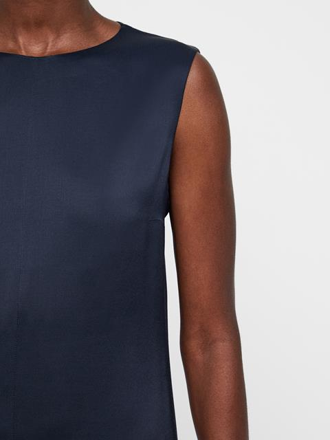 Womens Emily Liquid Satin Dress JL Navy