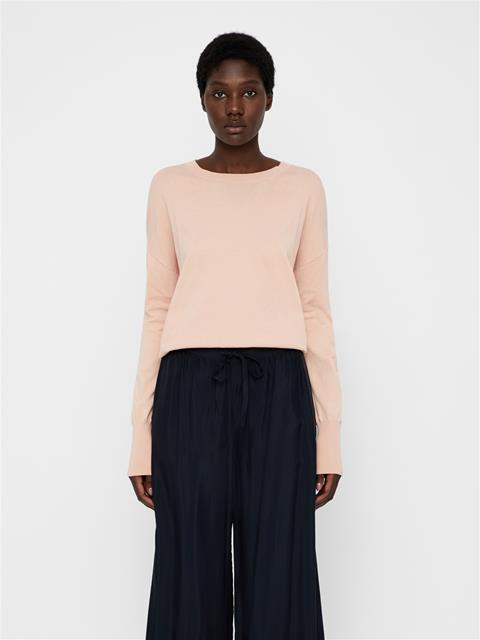 Womens Marion Cotton Silk Sweater Summer Beige