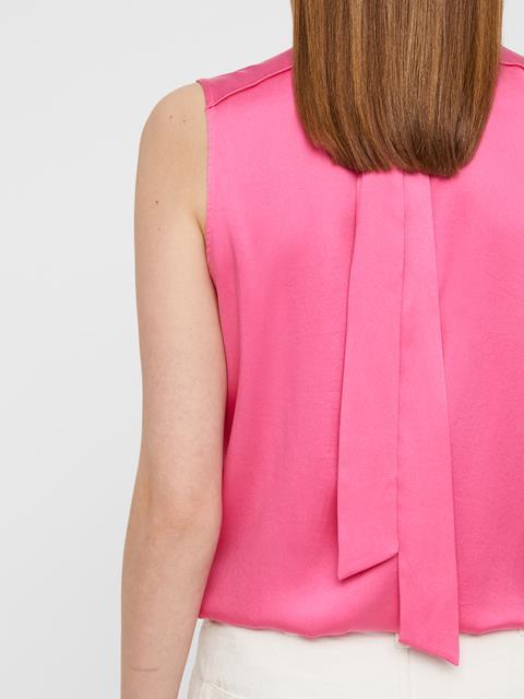Womens Oceana Washed Silk Top Pop Pink