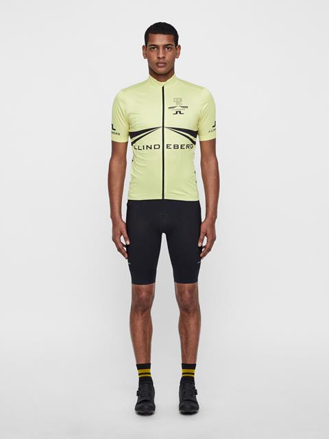 Mens Bike Branded Jersey Sharp Green