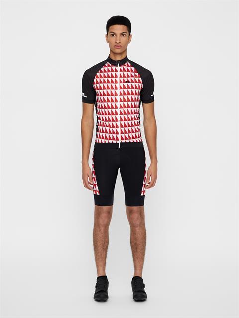 Mens Bike Geo Print Jersey Black