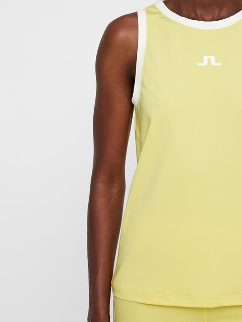 Womens Ally Jersey Top Butter Yellow