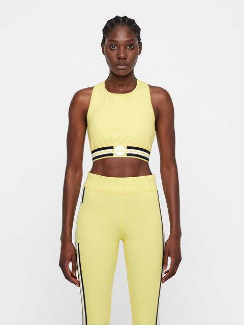 Womens Alexis Compression Sports Bra Butter Yellow