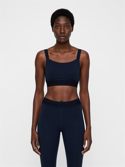 Womens Halle Compression Sports Bra JL Navy