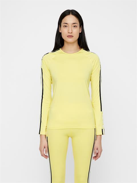 Womens Avril Jersey Top Butter Yellow