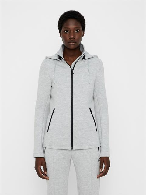 Womens Louna Tech Hoodie Stone Grey Melange