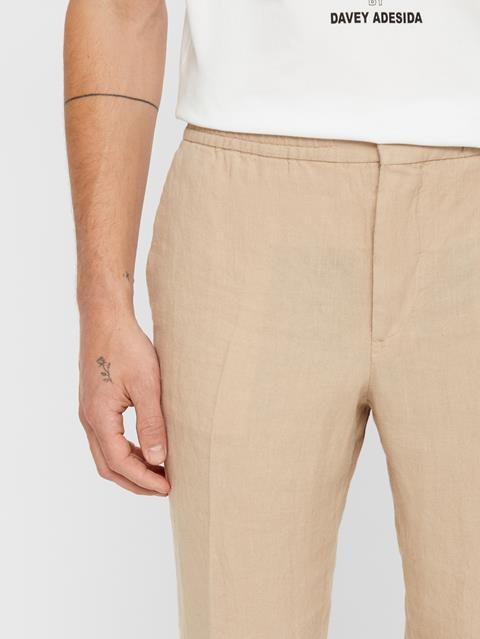 Mens Sasha Linen Pants Oxford Tan