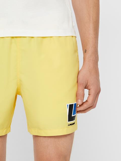 Mens Banks Swim Trunk Butter Yellow