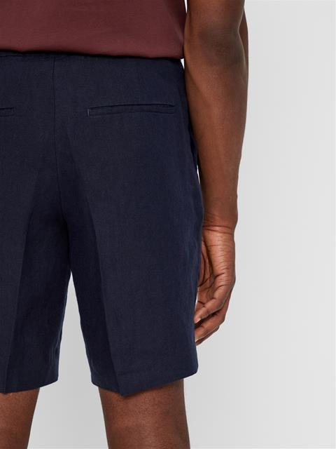 Mens Sasha Linen Shorts JL Navy