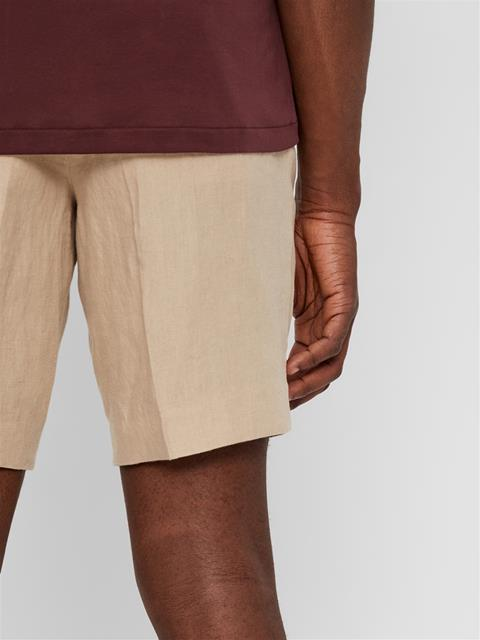 Mens Sasha Linen Shorts Oxford Tan