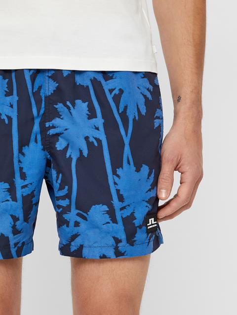 Mens Banks Patterned Swim Trunks Work Blue