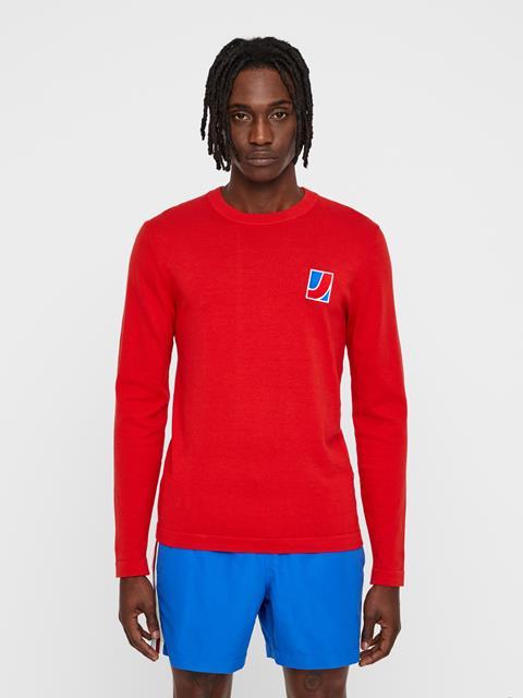 Mens Reno Sweater Deep Red