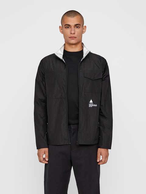 Mens Luke Shine Reversible Jacket Black