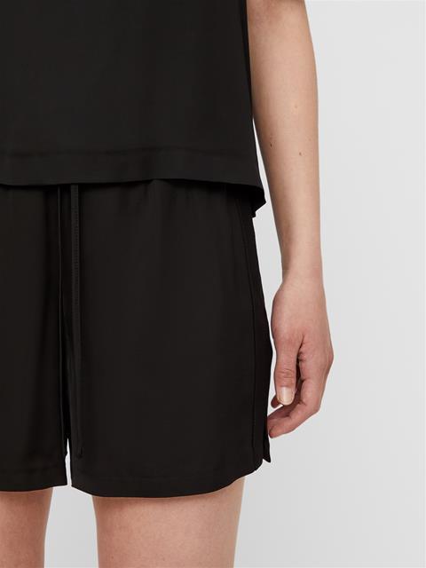 Womens Nova Liquid Satin Shorts Black