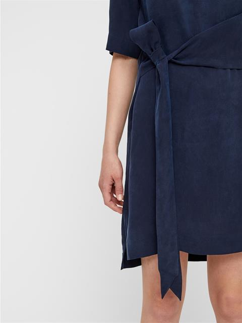 Womens Embla Sheer Dress JL Navy
