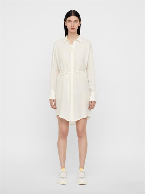 Womens Nicoletta Sheer Shirt Dress White