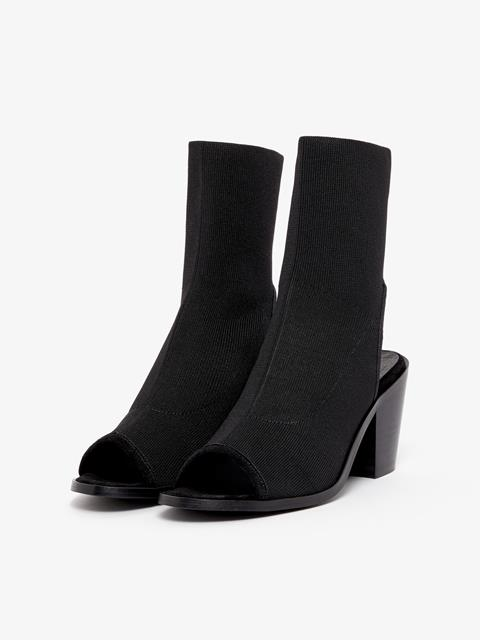Womens Ribby Heel Black