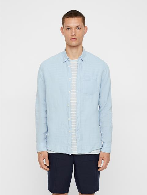 Mens Daniel Linen Shirt Ice Flow