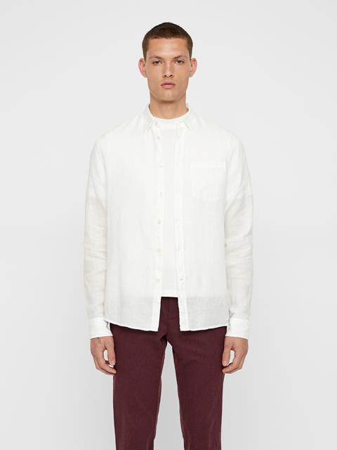 Mens Daniel Linen Shirt White