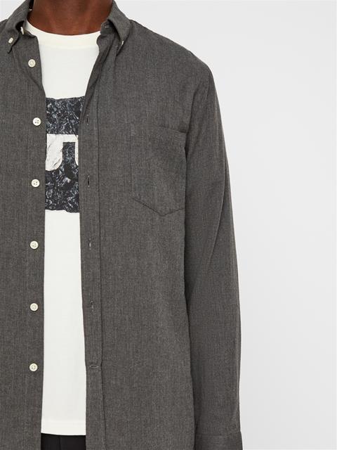 Mens Daniel Light Flannel Shirt Dark Grey