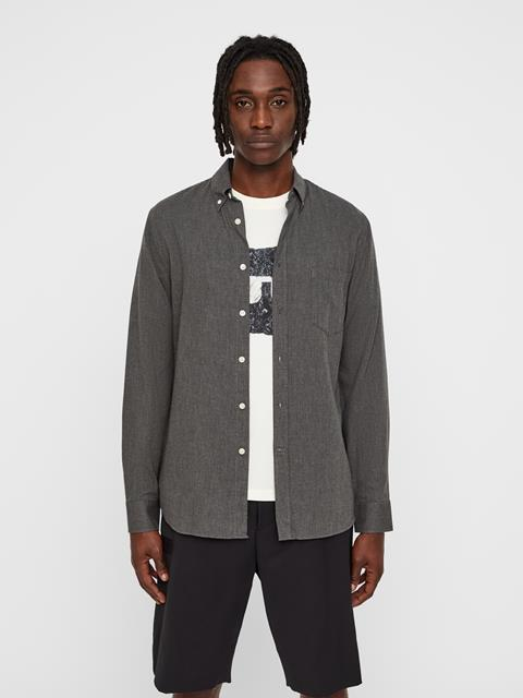 Mens Daniel Light Flannel Shirt Dark Grey