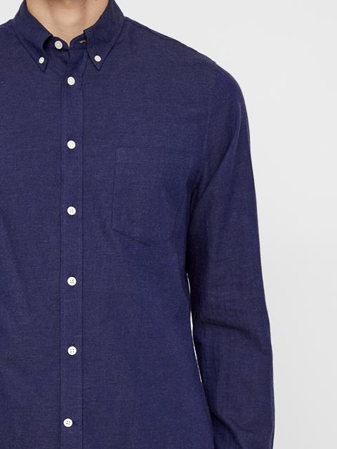 Mens Daniel Light Flannel Shirt Mid Blue