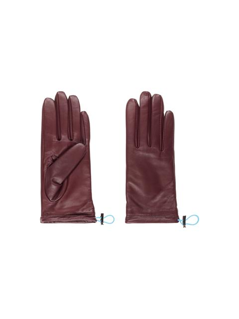 Womens JL Leather Gloves Dark Mocca