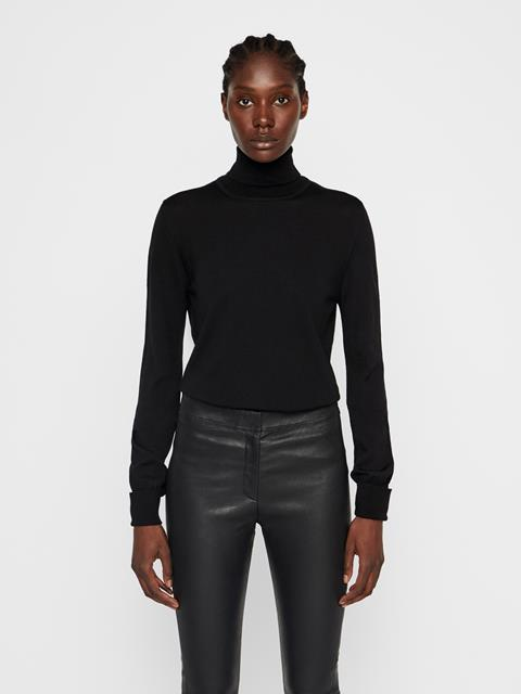 Womens Ava Turtleneck Sweater Black
