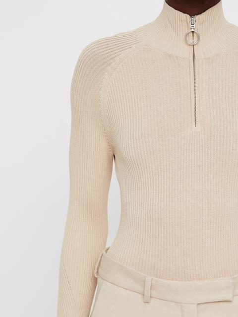 Womens Cara Turtleneck Knit Top Oxford Tan