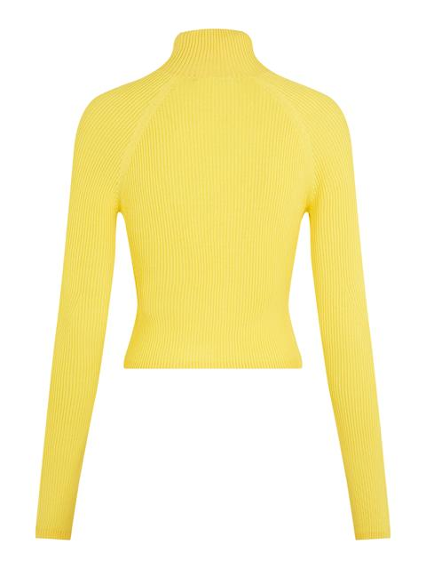 Womens Cara Turtleneck Knit Top Sun Yellow