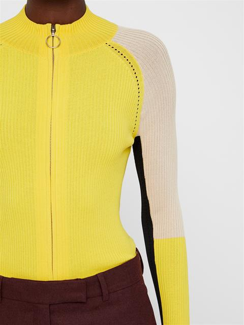 Womens Cruz Turtleneck Knit Top Sun Yellow