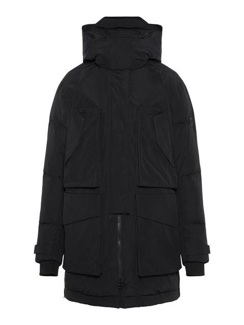Womens Aida Textured Cony Parka Black