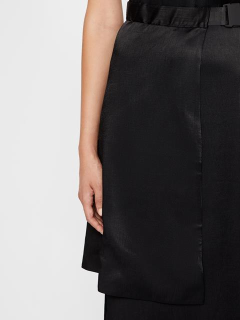 Womens Klara Plisse Dress Black