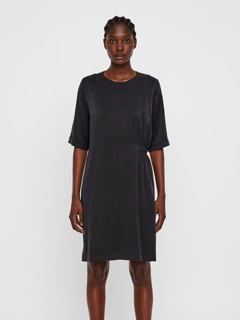 Womens Adele Silk Dress Black