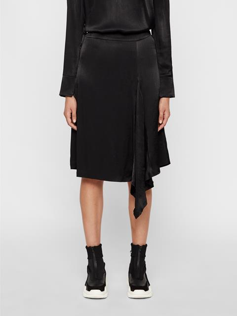 Womens Anja Plisse Skirt Black