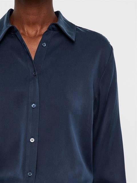Womens Mallory Silk Shirt JL Navy