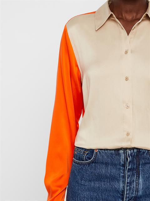 Womens Mallory Silk Shirt Juicy Orange