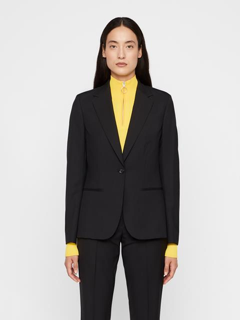 Womens Fern Wool Cordura Blazer Black
