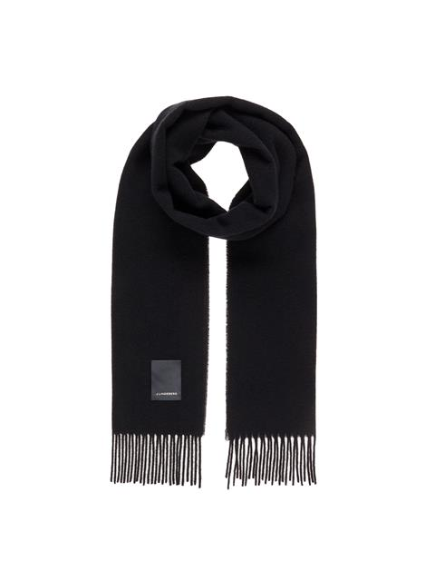 Mens Champ Wool Scarf Black