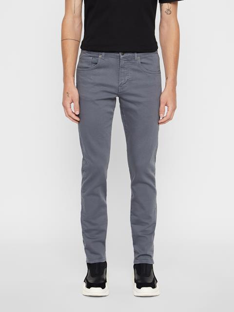 Mens Jay Solid Stretch Jeans Dark Grey