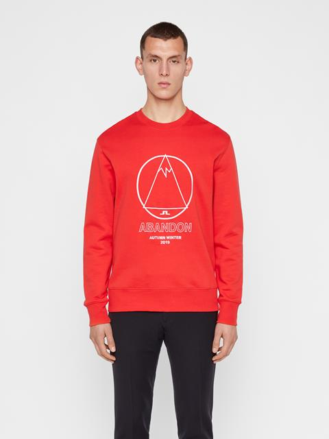Mens Hurl Ring Loop Sweatshirt Racing Red