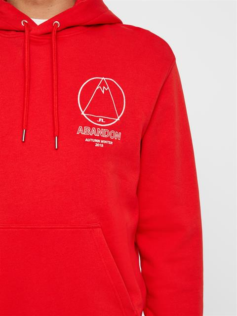 Mens Hurl Ring Loop Hoodie Racing Red