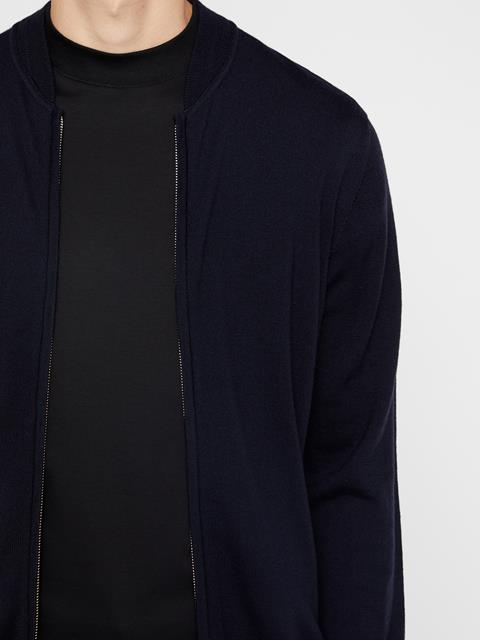 Mens Lyam Sweater Bomber Navy
