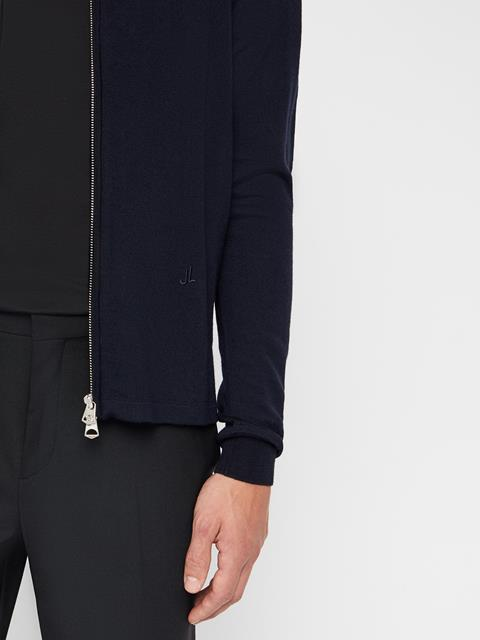 Mens Nyle Zip Cardigan JL Navy