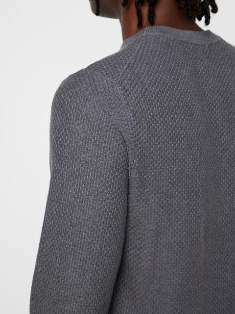 Mens Arthur Sweater Dark Grey Melange