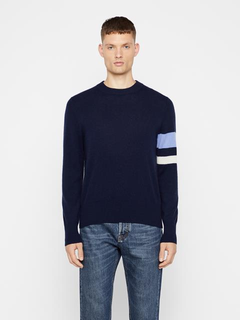 Mens Demyan Cashmere-Wool Sweater JL Navy