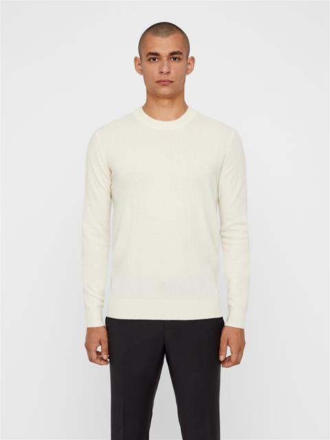 Mens Light Cashmere Sweater Cloud White