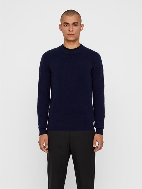 Mens Light Cashmere Sweater JL Navy