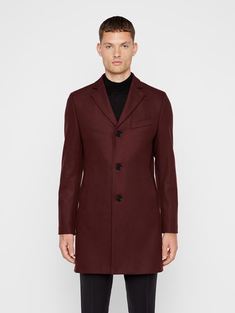Mens Wolger Compact Melton Coat Dark Mocca