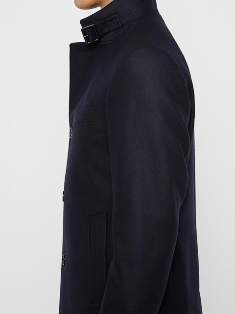 Mens Holger Compact Melton Coat JL Navy